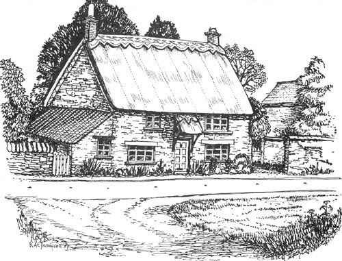 Stoke Goldington Association Sketch 06 Margie 39 S Cottage